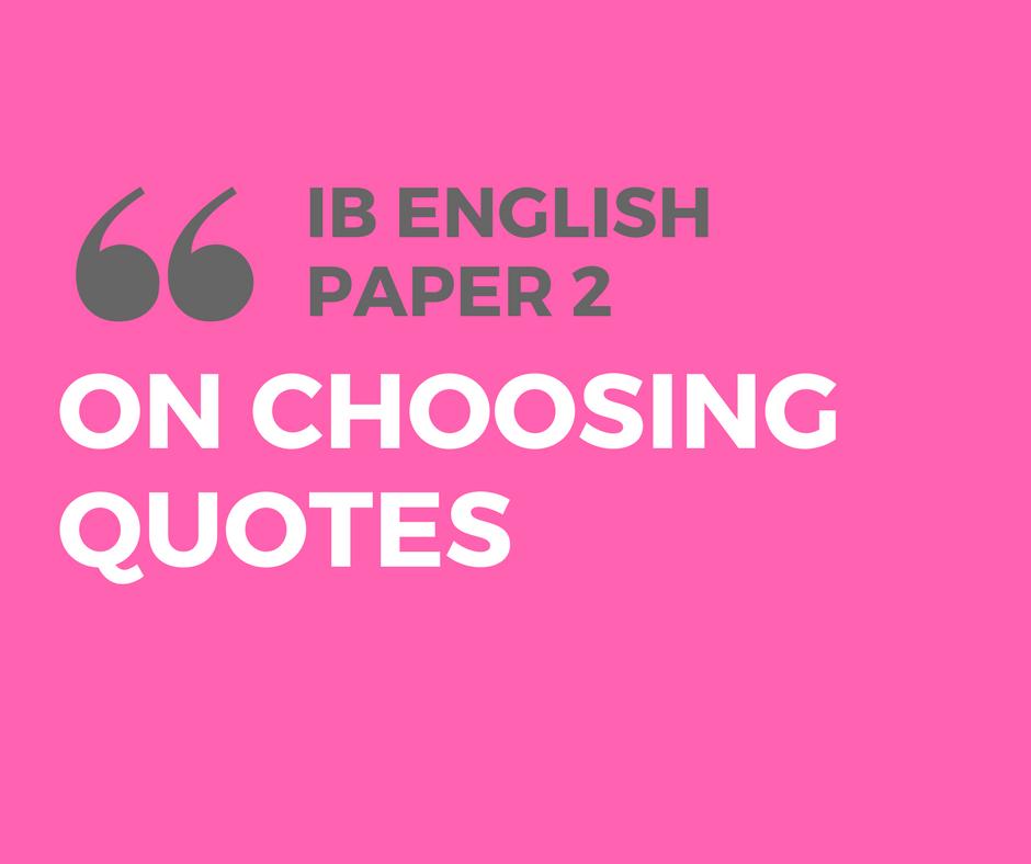 ib english paper 2